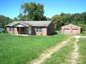 SOLD! Bethel Rd, Pine Knot | Brick ranch single family frame home on 2.3 level acres with 3 bdrms, 2 baths, full basement, 960 sf detached garage.