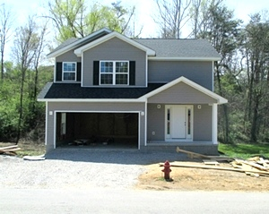 Sold!  605 Moore Rd., Williamsburg | NEW CONSTRUCTION! Two story frame home , 1800 sf  plus a walk-out basement